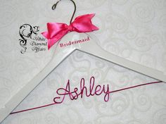 Bridal Party High Heel Pump Personalized Wedding Hanger, Bridesmaid, Wedding Dress Hanger, Wedding Party Gift - Wire Name Hanger on Etsy, $29.95