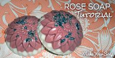 Layered Rose Soap Tutorial - Make Your Soap Soap Melt And Pour, How To Make Rose, Soap Tutorial, Rose Clay, Soap Recipes, Home Made Soap, Flower Petals, Soap Making, Bath And Body