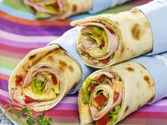 Schmackhafter Snack für zwischendurch: Wraps mit Schinkenfüllung - smarter - Kalorien: 278 Kcal - Zeit: 20 Min. | eatsmarter.de