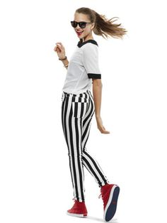 Black-And-White Stripes! Great from recycled if you are bored of demin