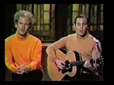 """Paul, Art and his cheesy moustache present a """"new"""" song on the Smothers Brothers show. Smothers Brothers, Feelin Groovy, Simon Garfunkel, Paul Simon, 70s Music, Popular Music, Jazz, Music Videos, Musicals"""
