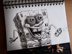 Distroy, por PEZ Artwork, BOB ESPONJA