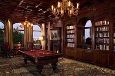 So...the Kingston Estate just got a billiards room! #inspiration Malinard Manor | Cravotta Interiors