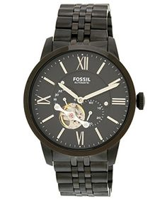 Fossil Mens Townsman Mechanical Stainless Steel Watch with Black Link Bracelet ** Check out this great product. Fossil Watches For Men, Mechanical Watch, Stainless Steel Watch, Link Bracelets, Michael Kors Watch, Gold Watch, Metal, Stuff To Buy, Accessories