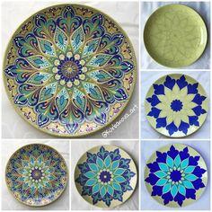 Handmade with l❤️VE ( Mandala Dots, Mandala Pattern, Mandala Design, Mandala Drawing, Mandala Painting, Dot Art Painting, Ceramic Painting, Painted Ceramic Plates, Pottery Painting Designs