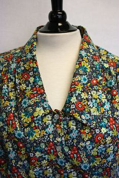 In-House Patterns Belle Bow Blouse stitched up by Mara for pink chalk studio, via Flickr