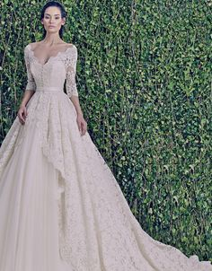 This gown would be even more amazing in ivory,taupe or blush.