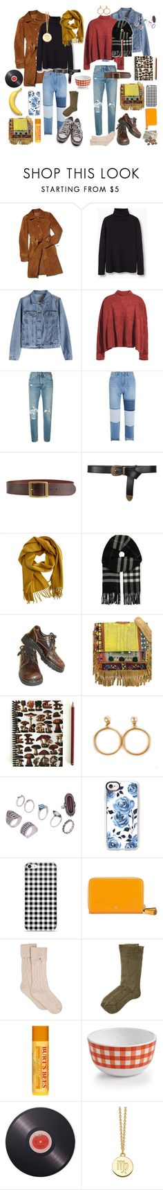 """""""out and about"""" by sydneybrunette on Polyvore featuring MANGO, H&M, Levi's, Steve J & Yoni P, Frame, Alberta Ferretti, Hermès, Burberry, Dr. Martens and Vintage Addiction"""