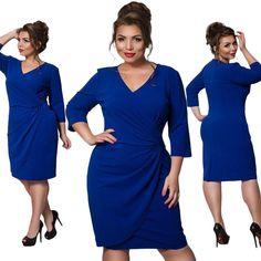 Casual Elegance Dress. Plus Size Winter DressesCasual Dresses For WomenCasual  EleganceDresses With SleevesV NeckFatGowns ... 296e5ad77f72