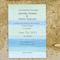 printable watercolor beach summer wedding invitations EWI391 as low as $0.94