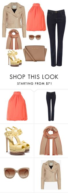 """""""Untitled #12"""" by sousou2578 on Polyvore featuring Alice + Olivia, Casadei, Johnstons of Elgin, STELLA McCARTNEY, IRO and MICHAEL Michael Kors"""