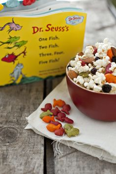 Celebrate Dr. Seuss' Birthday: One Fish Two Fish Easy Snack Mix