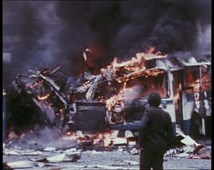 The IRA explodes a bomb during the Troubles: http://www.britishpathe.com/video/ira-outrages-in-northern-ireland