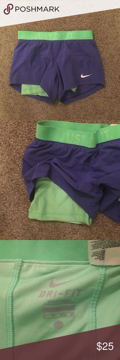 Nike running shorts with built in spandex Only worn like 3 times Nike Shorts