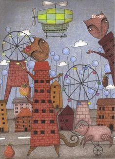 "Saatchi Art Artist Judith Clay; Drawing, ""Mrs. Pauline Sherman's Tea Hour in the City"" #art"
