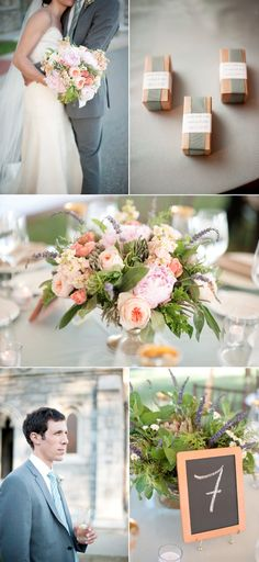 peach and grey colors! Oh how I love it!