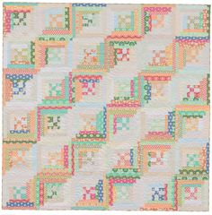 Log Cabin quilt from Seams Like Scrappy book-Martingale