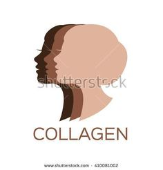 women collagen logo , vector , icon . skin color