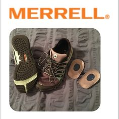 REDUCED❣Merrell All Out Fuse. Size 9.  Same day shipping (excluding Sun/holidays or orders placed after P.O. Closed)  25% off of 2+ bundles totaling over $100. (Items must be purchased at listed price). ❓Please ask any questions prior to buying. I want you to be % Happy❣  Merrell All Out Fuse. Size 9. Heel inserts included-these shoes are zero drop and are meant to get feet accustomed to more flat/unsupported walking. My feet were swollen at the end of my pregnancy so these may be…
