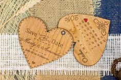 Wood Save-The-Date Magnets/ Engraved Wooden Wedding magnets / Laser Cut Rustic…