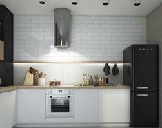 biała kuchnia, czarne akcenty Scandinavian Home, Kitchen Cabinets, House, Home Decor, Kitchens, Students, Flat, Projects, Decoration Home