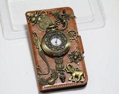 steampunk watch mermaid dragon iphone 6 iphone 6 plus wallet case,iphone 5 wallet,iphone 5s wallet case,samsung galaxy s5 wallet case