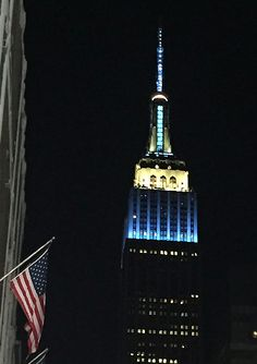 Empire state building lights salute Columbia university graduates #Empire State building, #Columbia Graduates, #students,