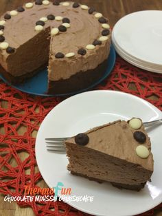 Chocolate Mousse Cheesecake - Wicked Wednesday - ThermoFun | ThermoFun | Thermomix Recipes & Tips