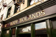 Rody Bolands | Dublin Restaurant - Reviews, Menu and Dining Guide Rathmines Restaurants In Dublin, Shop Ideas, Coffee Shop, Forget, Menu, Dreams, Dining, Places, Travel
