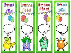 POKEMON GO! Inspired Bonne Fête SIGNETS Bookmarks (EDITABLE) by EasyBreezyESL Pokemon Go, Teaching Materials, Print And Cut, Esl, Bookmarks, Card Stock, Happy Birthday, Black And White, Inspired