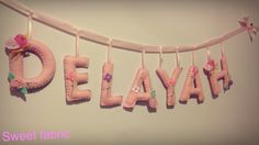 Personalized Wall name banner Wall Banner, Name Banners, Nursery, Baby, Handmade, Color, Colour, Day Care, Hand Made
