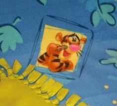 Tigger Fleece Tie Knot Blanket by GelflingGifts on Etsy, $15.00