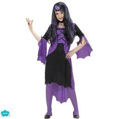 Disfraz de vampiresa morado para niña