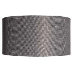 Suspension non électrifiée en tissu gris D.45cm VIVIANE
