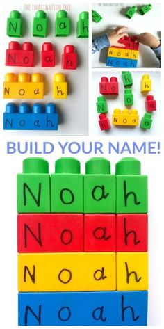Building Blocks Name Game - The Imagination Tree