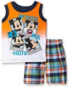 NEW Disney Mickey Mouse Infant Boys Shirt /& Shorts 2 PCS Set Size 18 Months P