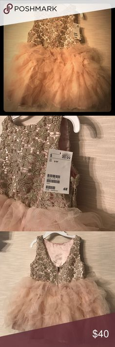 NWT Little girl dress Beautiful dress in excellent condition. Never been worn H&M Dresses Formal