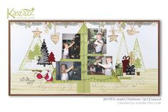 This project will show you how to create a gorgeous Christmas double page layout using Tree Dies in the Ezy-Press and mixing and matching stamps to go with them.