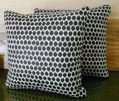 Black and cream ikat dots decorative pillow cover rachelblindauer.com
