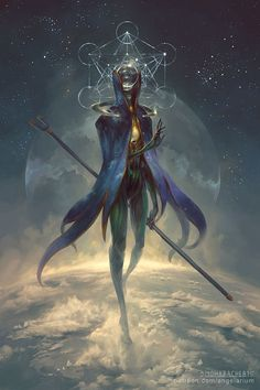 Eistibus, Angel of Divination by PeteMohrbacher on DeviantArt