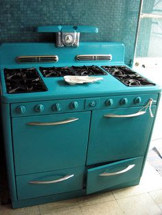 colorful vintage oven