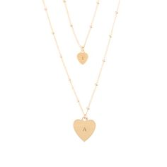 Mothers Day // Layered Heart Necklace. Additional small hearts available for more than one child.