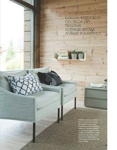 Living Spaces, Living Room, Glass House, Rental Property, Log Homes, Construction, Home And Living, Room Inspiration, Ovet