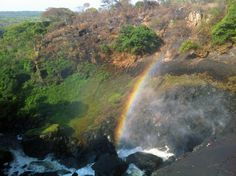 Somewhere over the rainbow at Chishimba Falls...