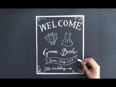 chalkboard art チョークアート、黒板のウェルカムボード(大人黒板chalkart:wedding)