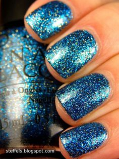 Absolutely Alice by OPI. I'm a sucker for blue and glitter polish! Cute Nails, Pretty Nails, Uñas Diy, Opi Nails, Nail Polish Colors, Manicure And Pedicure, Nails Inspiration, Beauty Nails, How To Do Nails