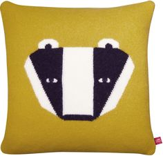 Shop The Donna Wilson Girls , Boys Badger Cushion In Yellow At Elias & Grace. Browse The Cutest Childrens Clothes From Donna Wilson, Handpicked By Elias & Grace