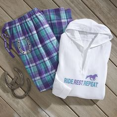 Ride Rest Repeat Pants - Horse Themed Gifts, Clothing, Jewelry and Accessories all for Horse Lovers | Back In The Saddle