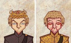 Les personnages de Game of Thrones Avant/Après : Joffrey (bien fait !)