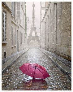 Photo about Eiffel tower view from the street of Paris. Black and white photo with red element. Image of detail, french, paris - 40795305 Beautiful World, Beautiful Places, Beautiful Pictures, Beautiful Streets, Rainy Paris, Paris Torre Eiffel, Little Paris, Paris Love, Paris Paris
